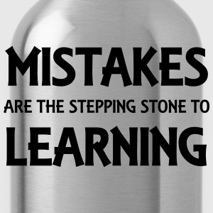 Mistakes are the stepping stone to success T-shirts - Vattenflaska