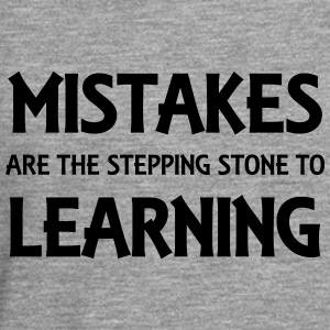 Mistakes are the stepping stone to success Tee shirts - T-shirt manches longues Premium Homme