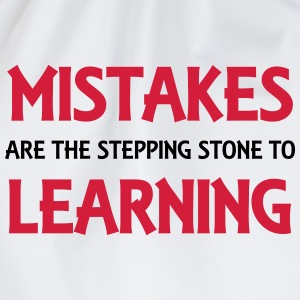 Mistakes are the stepping stone to success Manches longues - Sac de sport léger
