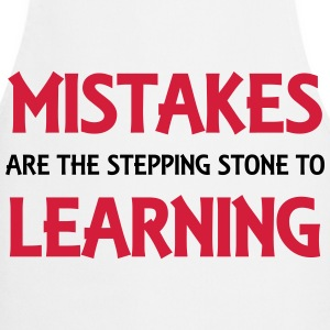 Mistakes are the stepping stone to success Manches longues - Tablier de cuisine