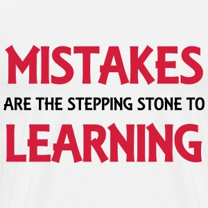 Mistakes are the stepping stone to success Langarmshirts - Männer Premium T-Shirt