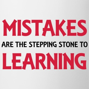 Mistakes are the stepping stone to success T-shirts - Mugg