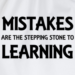 Mistakes are the stepping stone to success Tee shirts - Sac de sport léger