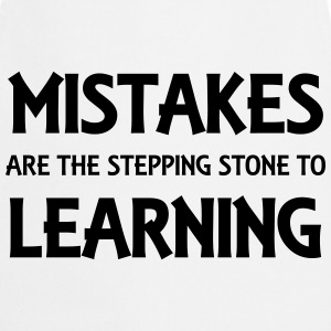 Mistakes are the stepping stone to success Tee shirts - Tablier de cuisine