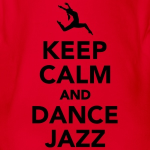 Keep calm and dance jazz T-Shirts - Baby Bio-Kurzarm-Body