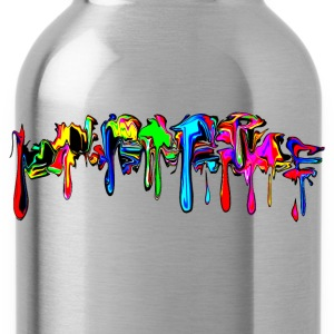 Color, rainbow, graffiti, splash, paint, comic T-Shirts - Water Bottle