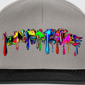 Color, rainbow, graffiti, splash, paint, comic Camisetas - Gorra Snapback