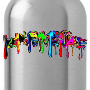 Color, rainbow, graffiti, splash, paint, comic Hoodies & Sweatshirts - Water Bottle
