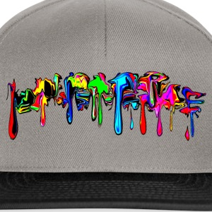 Color, rainbow, graffiti, splash, paint, comic Hoodies & Sweatshirts - Snapback Cap