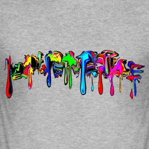 Color, rainbow, graffiti, splash, paint, comic Sudaderas - Camiseta ajustada hombre