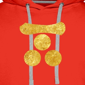 Mori Mon Japanese samurai clan in faux gold Shirts - Men's Premium Hoodie