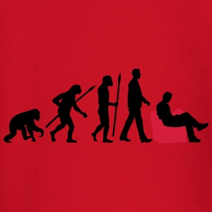 evolution_of_man_reading_a_booka_2c T-Shirts - Baby Langarmshirt