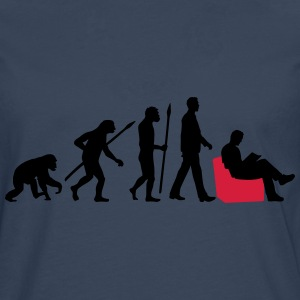 evolution_of_man_reading_a_bookb_2c T-Shirts - Männer Premium Langarmshirt