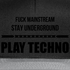 fuck mainstream techno underground Club DJ Party Sonstige - Snapback Cap