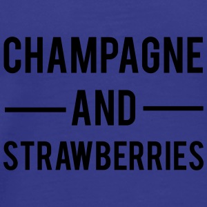 Champagne And Strawberries Tassen & rugzakken - Mannen Premium T-shirt