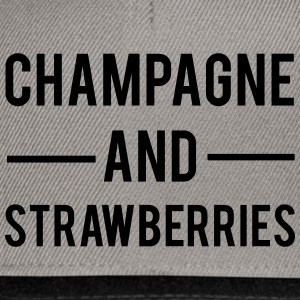 Champagne And Strawberries T-Shirts - Snapback Cap