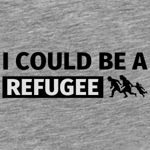 I could be a refugee Kepsar & mössor - Premium-T-shirt herr