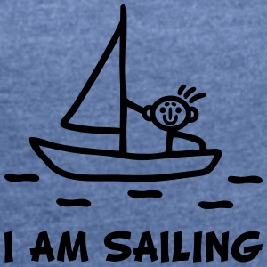 I am sailing Bags & Backpacks - Women's T-shirt with rolled up sleeves