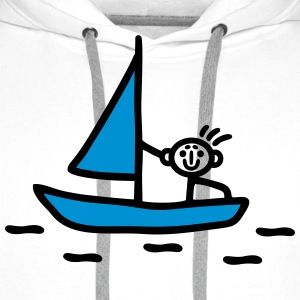 Stick figure sailing - V2 T-Shirts - Men's Premium Hoodie