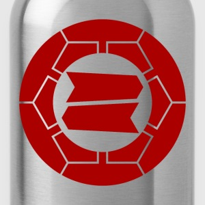 Hattori clan kamon in red Shirts - Water Bottle