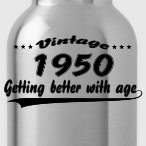 Vintage 1950 Getting Better With Age T-Shirts - Water Bottle