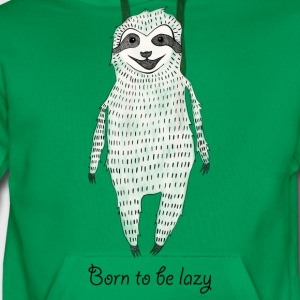 Kelly green Born to be lazy Shirts - Men's Premium Hoodie