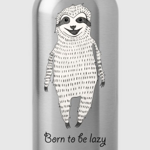 Born to be lazy T-Shirts - Trinkflasche