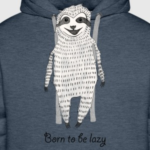 Gris bleu Born to be lazy Tee shirts - Sweat-shirt à capuche Premium pour hommes