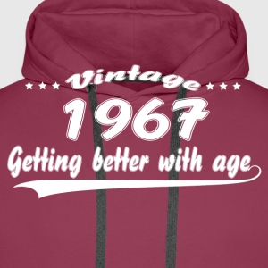 Vintage 1967 Getting Better With Age T-Shirts - Men's Premium Hoodie