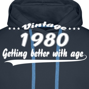 Vintage 1980 Getting Better With Age T-Shirts - Men's Premium Hoodie