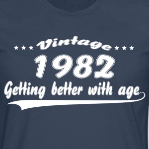 Vintage 1982 Getting Better With Age T-Shirts - Men's Premium Longsleeve Shirt