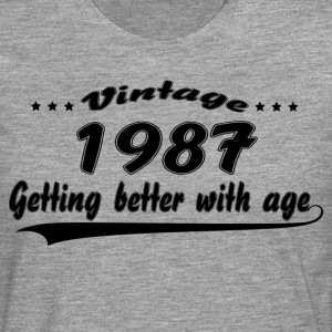 Vintage 1987 Getting Better With Age T-Shirts - Men's Premium Longsleeve Shirt