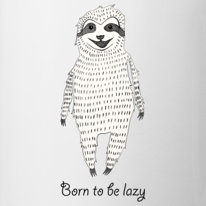 White Born to be lazy Tops - Mug