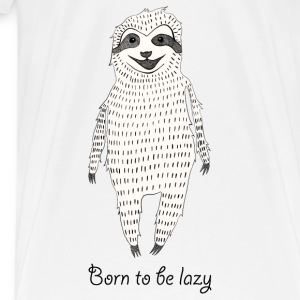 White Born to be lazy Tops - Men's Premium T-Shirt