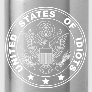 united states of idiots T-Shirts - Trinkflasche
