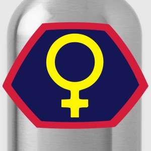 Super Frau Power Girl Heldin Comic Venus Symbol T-Shirts - Trinkflasche