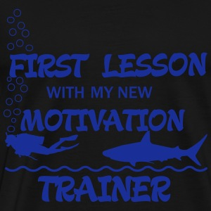 First Lesson - Motivation Trainer Gensere - Premium T-skjorte for menn