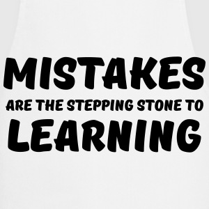 Mistakes are the stepping stone to learning Langarmshirts - Kochschürze