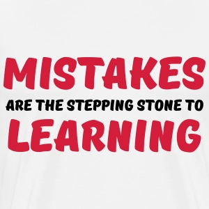 Mistakes are the stepping stone to learning Langarmshirts - Männer Premium T-Shirt