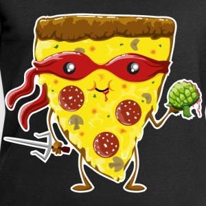 Noir Ninja Pizza eats turtle Tee shirts - Sweat-shirt Homme Stanley & Stella