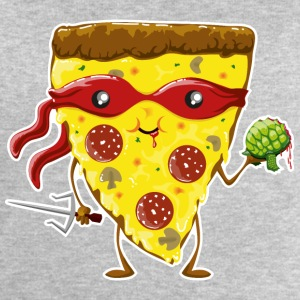Gris clair Ninja Pizza eats turtle Autres - Sweat-shirt Homme Stanley & Stella