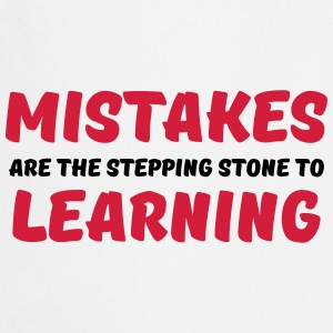 Mistakes are the stepping stone to learning Tee shirts - Tablier de cuisine