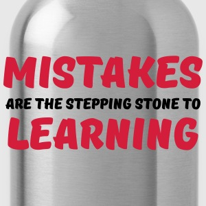Mistakes are the stepping stone to learning T-shirts - Vattenflaska