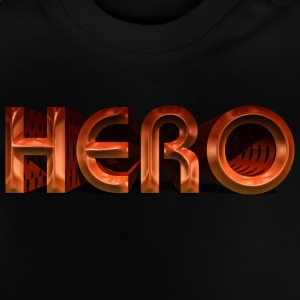 Hero Held metall Superhero dark epic 3D Schrift T-Shirts - Baby T-Shirt
