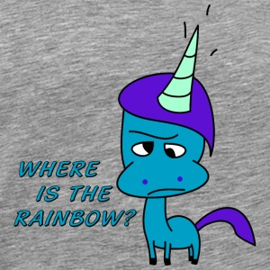 Where is the rainbow?   Overig - Mannen Premium T-shirt