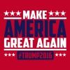 Make america great again trump 2016 T-skjorter - Premium T-skjorte for menn