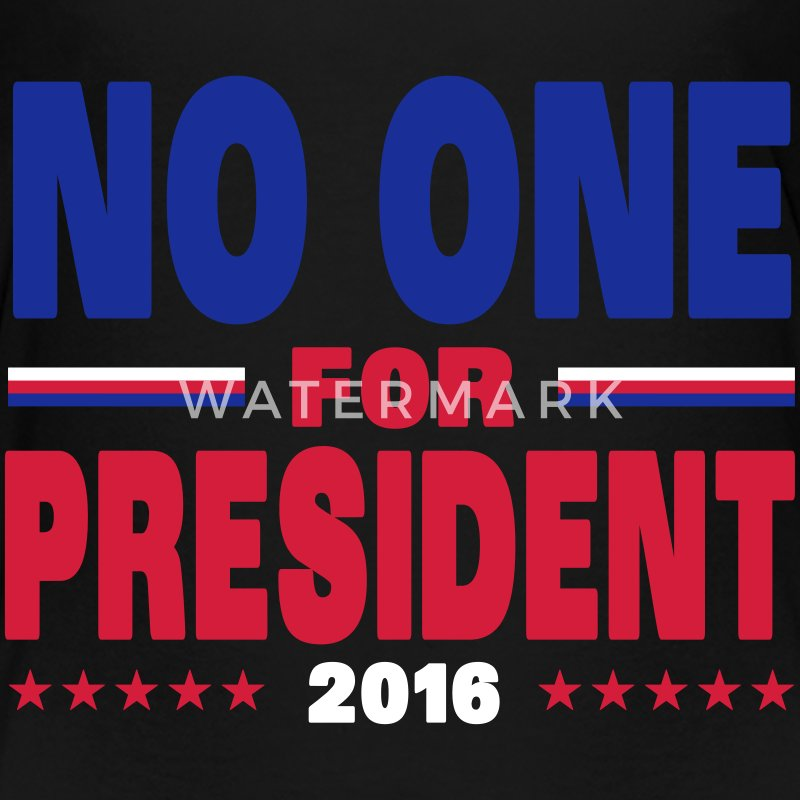 No one for president 2016 T-shirts - Børne premium T-shirt