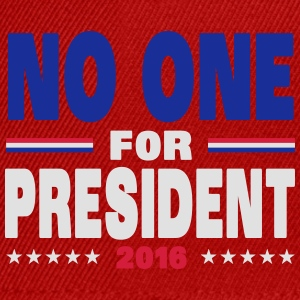 No one for president 2016 Sportsbeklædning - Snapback Cap