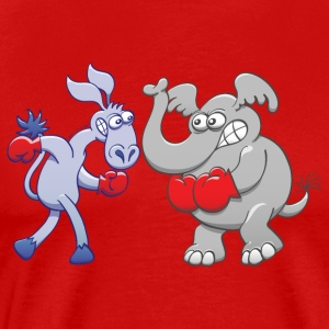 Boxing Donkey vs Elephant Sports wear - Men's Premium T-Shirt
