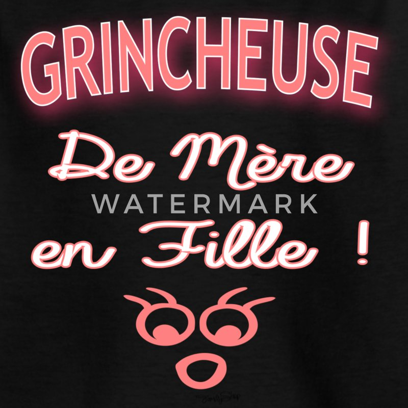 grincheuse fille Tee shirts - T-shirt Ado